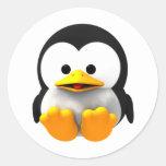 Pegatina tridimensional del pingüino de Tux Linux