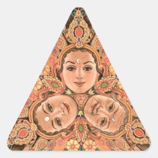 Pegatina triple del triángulo de la diosa