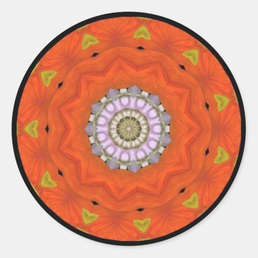 Pegatina Trippy del arte del caleidoscopio