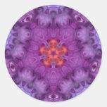 Pegatina Trippy del arte del caleidoscopio púrpura