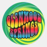 Pegatina Trippy del hippy de Glenwood Springs