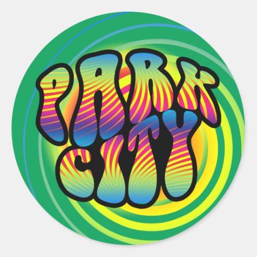Pegatina Trippy del hippy de Park City