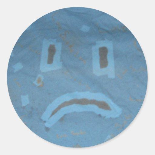 Pegatina triste de la cara