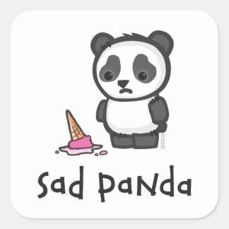 Pegatina triste de la panda