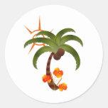 Pegatina tropical del fiesta