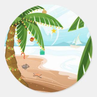 Pegatina tropical del navidad