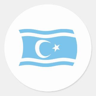 Pegatina turcomano iraquí de la bandera