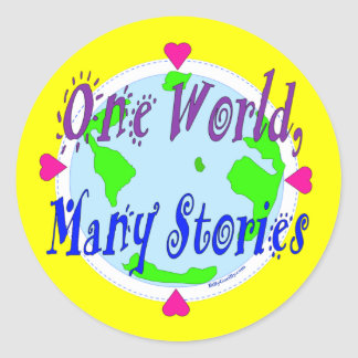 Pegatina - un mundo, muchas historias