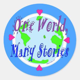 Pegatina - un mundo muchas historias