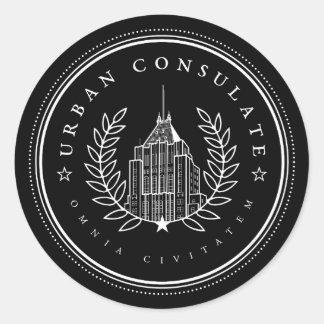 Pegatina urbano del consulado