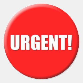 Pegatina urgente (grande)