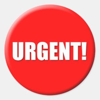 Pegatina urgente (pequeño)