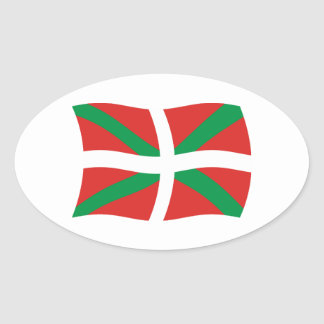Pegatina vasco de la bandera de la gente