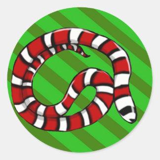 Pegatina verde (actualizado) de las rayas de la