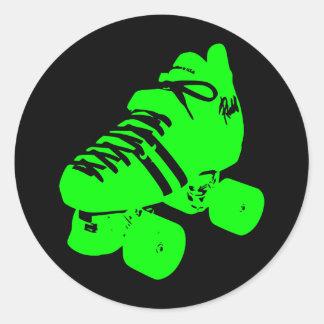 Pegatina verde atómico del patín de Derby del