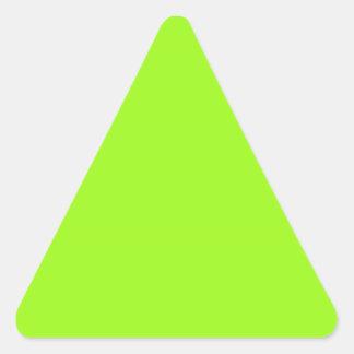Pegatina verde chartreuse brillante del triángulo