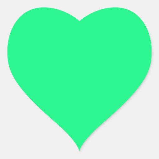 Pegatina verde claro del corazón