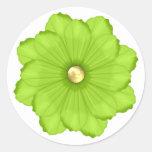 Pegatina verde claro del sello del sobre de la flo