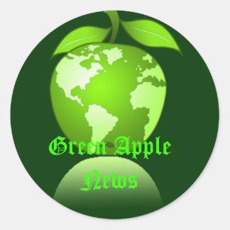 Pegatina verde de Apple
