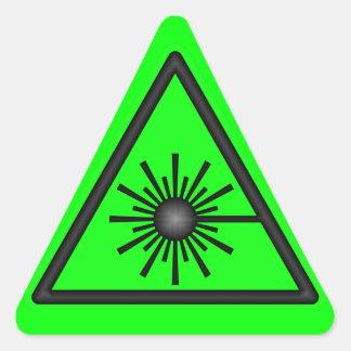 Pegatina verde de la advertencia de laser
