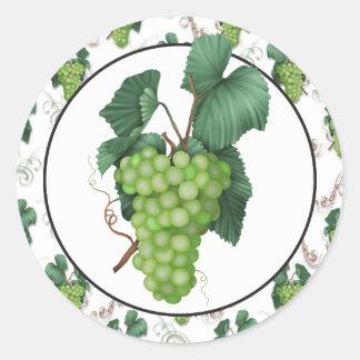 Pegatina verde de la diversión de la comida de la