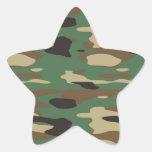 Pegatina verde de la estrella del camuflaje