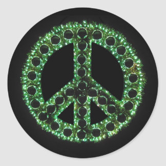 pegatina verde de la paz