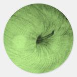 Pegatina verde de las manzanas