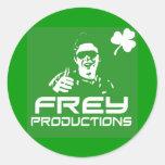 Pegatina verde de las producciones de Frey