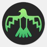 Pegatina verde de Thunderbird