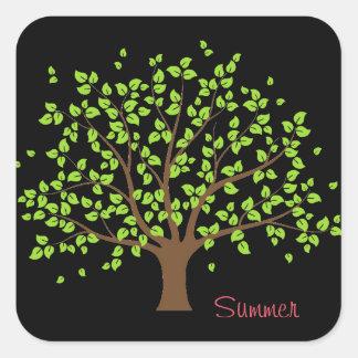 Pegatina verde del árbol del verano