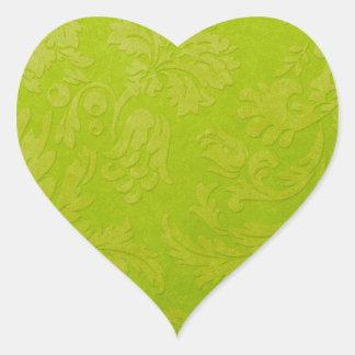 Pegatina verde del brocado de la pendiente
