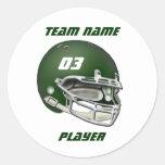 Pegatina verde del casco de fútbol americano