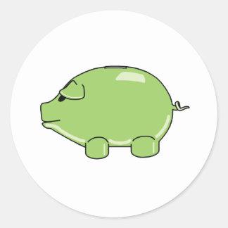 Pegatina verde del cerdo