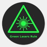 Pegatina verde del laser