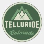 Pegatina verde del logotipo de la montaña del