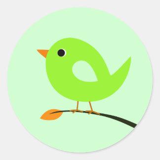 Pegatina verde del pájaro