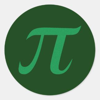 Pegatina verde del pi