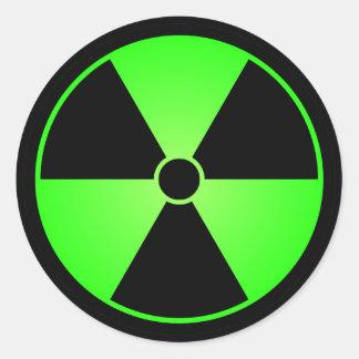 Pegatina verde del símbolo de la radiación