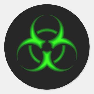 Pegatina verde del símbolo del Biohazard