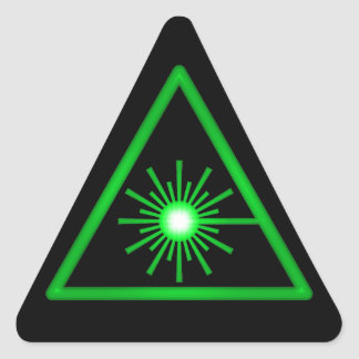Pegatina verde del símbolo del laser