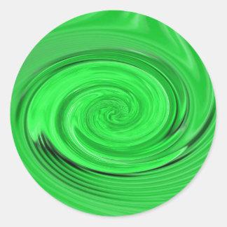 Pegatina verde del vórtice