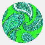 Pegatina verde eléctrico del sello del sobre de