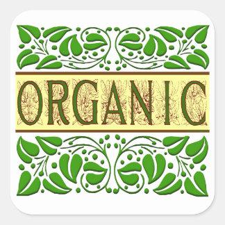 Pegatina verde orgánico del lema