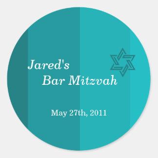 Pegatina verdemar tonal de Mitzvah de la barra