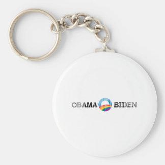 Pegatina Vintage.png del orgullo de Obama Biden 20 Llaveros