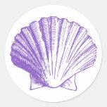 Pegatina violeta de Shell del mar