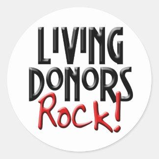 Pegatina vivo de la roca de los donantes