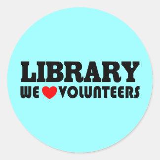Pegatina voluntario de la biblioteca