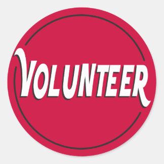 Pegatina voluntario para los acontecimientos
